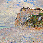 Cliffs near Dieppe, Claude Oscar Monet