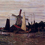 Windmill at Zaandam, 1871 02, Клод Оскар Моне