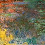 Claude Oscar Monet - Water Lily Pond, Evening (right panel)