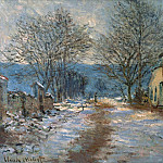 Snow Effect at Limetz, Claude Oscar Monet