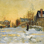 Claude Oscar Monet - Snow Effect, The Street in Argentuil