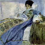 Madame Monet on the Divan, Клод Оскар Моне