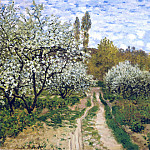 Trees in Bloom, Claude Oscar Monet