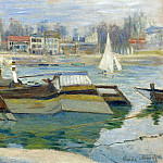 The Seine at Asnieres 03, Клод Оскар Моне