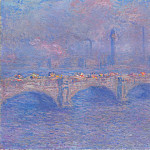 Waterloo Bridge, Sunlight Effect 2, Claude Oscar Monet