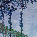 Poplars, Wind Effect, Claude Oscar Monet