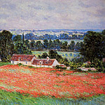 Poppy Field at Giverny, Claude Oscar Monet