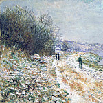 Claude Oscar Monet - The Tow Path at Argenteuil, Winter