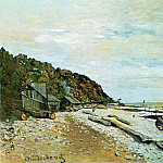 Boatyard near Honfleur, Claude Oscar Monet