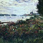 Riverbank at Argenteuil, Клод Оскар Моне