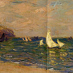 Sailboats at Sea, Pourville, Claude Oscar Monet