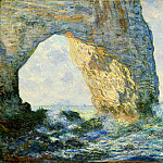 The Manneport, Rock Arch West of Etretat, Клод Оскар Моне