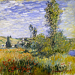 Landscape at Vetheuil, Claude Oscar Monet