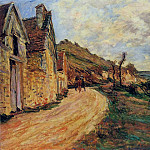 Les Roches at Falaise near Giverny, Claude Oscar Monet