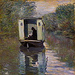 The Studio Boat, Claude Oscar Monet