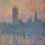 Houses of Parliament in Winter, Claude Oscar Monet