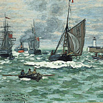 Entrance to the Port of Honfleur, Claude Oscar Monet