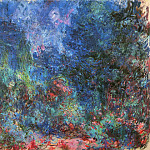 The Artist's House, View from the Rose Garden 02, Claude Oscar Monet