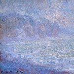 Claude Oscar Monet - Cliffs at Pourville, Rain