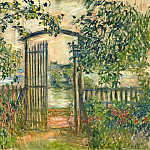 The Garden Gate at Vetheuil, Клод Оскар Моне