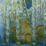 Rouen Cathedral, West Facade, Noon, Claude Oscar Monet