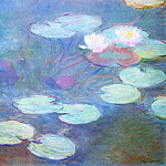 Water Lilies, Pink, Клод Оскар Моне