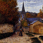 Street in Saint-Adresse, Claude Oscar Monet