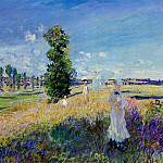 The Promenade, Argenteuil, Claude Oscar Monet