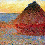 Claude Oscar Monet - Grainstack, Impression in Pinks and Blues