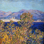 Claude Oscar Monet - Antibes Seen from the Cape, Mistral Wind