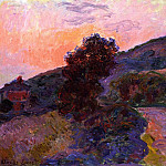 Sunset at Giverny, Claude Oscar Monet