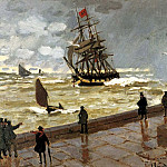 Claude Oscar Monet - The Jetty at Le Havre Bad Weather