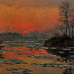Клод Оскар Моне - Sunset on the Seine in Winter