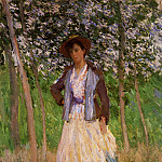 Claude Oscar Monet - The Stroller (Suzanne Hoschede)