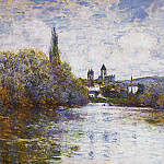 Vetheuil, The Small Arm of the Seine, Claude Oscar Monet