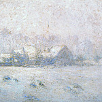 Snow Effect, Giverny, Claude Oscar Monet