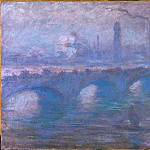 Claude Oscar Monet - Waterloo Bridge, Misty Morning
