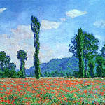 Poppy Field in Giverny, Claude Oscar Monet
