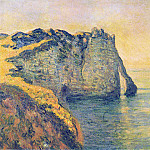 Cliffs of the Porte d'Aval, Claude Oscar Monet