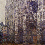 Claude Oscar Monet - Rouen Cathedral, The Portal and the Tour d'Albene, Grey Weather