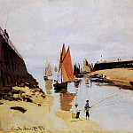 Entrance to the Port of Trouville, Claude Oscar Monet