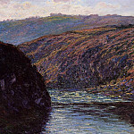 Valley of the Creuse, Afternoon Sunlight, Клод Оскар Моне