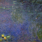 Claude Oscar Monet - Water Lilies, Morning (right-center detail)