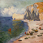 The Beach and the Falaise d'Amont, Claude Oscar Monet