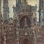 Claude Oscar Monet - Rouen Cathedral, The Portal, Harmony in Brown