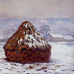 Claude Oscar Monet - Grainstacks, Snow Effect
