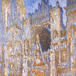 Rouen Cathedral, The Portal at Midday, Claude Oscar Monet