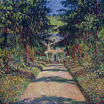 Claude Oscar Monet - Pathway in Monet's Garden at Giverny