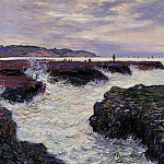 The Rocks at Pourville, Low Tide, Claude Oscar Monet