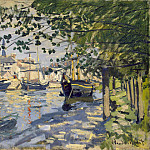 The Seine at Rouen , Claude Oscar Monet